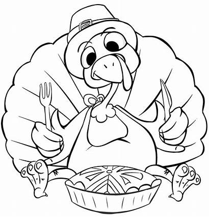 Coloring Pages Dinner Turkey Thanksgiving Crazy Animal