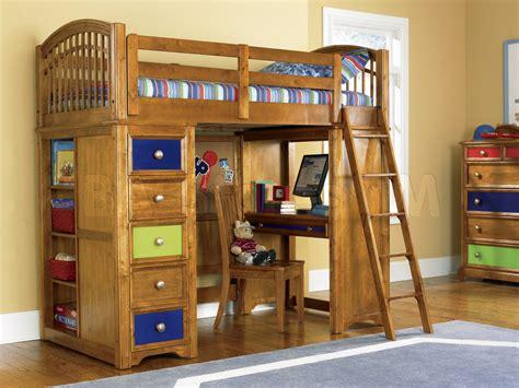 boys loft bed with desk bunk beds bearrific loft drawer and desk bunk bed