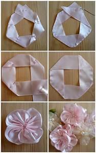 Best 25+ Ribbon flower tutorial ideas on Pinterest | Diy ...