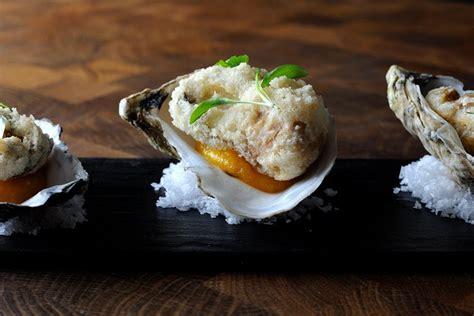 tempura oyster recipe  apricot great british chefs