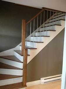 Décoration D Escalier Intérieur : rampes d 39 escalier moderne recherche google maison pinterest salons and sous sol ~ Nature-et-papiers.com Idées de Décoration