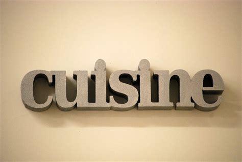 mot cuisine deco déco cuisine avec des lettres