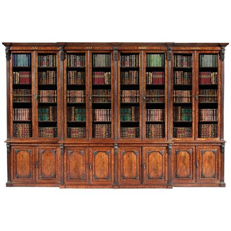Bookcase Sale by Antique 19th Century Mahogany Library Bookcase For