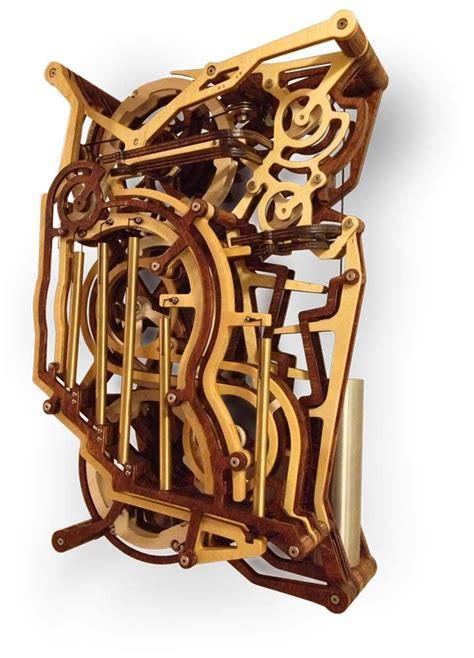 kinestrata  mechanical wooden marble machine marble