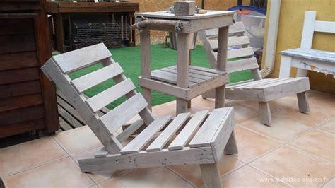 siege en palette comment fabriquer un siège de jardin en bois de palettes