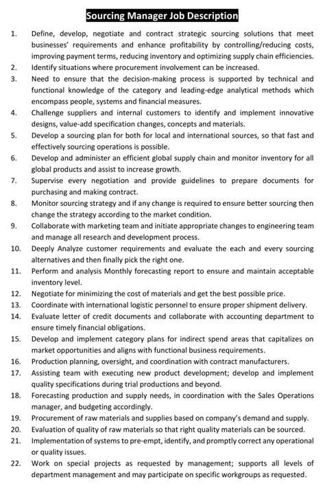 sourcing manager job description ordnur textile  finance