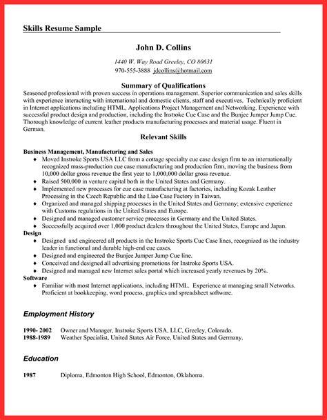 resume exles pdf resume format