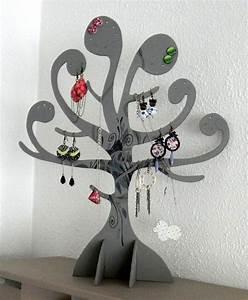 Fabriquer Un Porte Bijoux : porte bijoux arbre gris de yusyus cr ations sur dawanda ~ Melissatoandfro.com Idées de Décoration