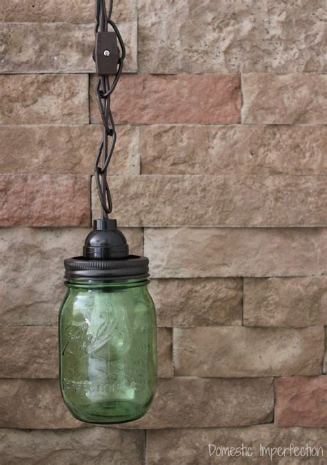 jar pendant light domestic imperfection