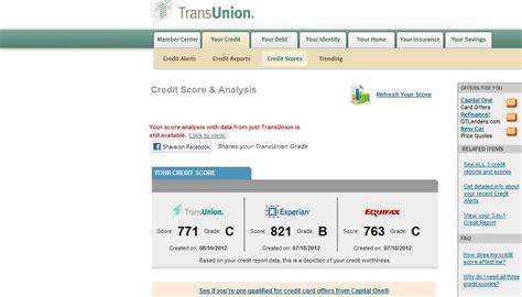 trans union credit bureau yearly credit report information transunion customer