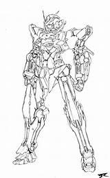 Exia Gundam Coloring Ve Advanced Rasiel Deviantart Gn Xxx Hary Aya Peacemaker Trade Sketch Template sketch template