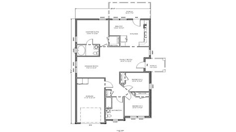 small house floor plan small  bedroom house plans
