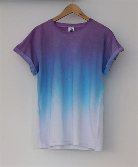 Purple Blue Horizon Dip Dye Tee Andclothing