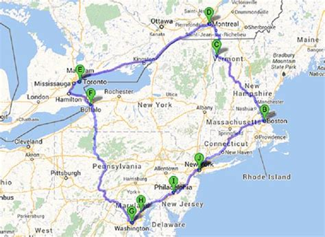 east coast road trip itinerary canadian east coast road trip map