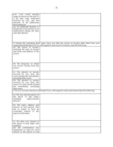 illinois matrimonial interrogatories questionnaire legal