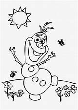 Olaf Coloring Pages Frozens sketch template