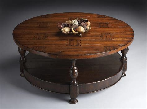 Round Distressed Coffee Table  Coffee Table Design Ideas