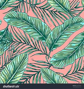 Beautiful seamless tropical jungle floral pattern ...