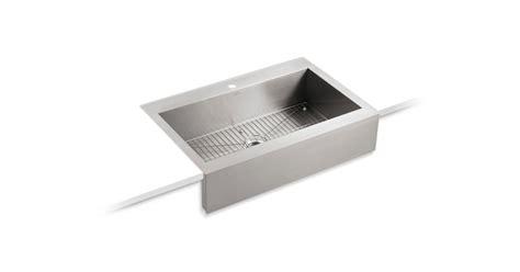 top mount apron sink k 3942 1 vault apron front top mount sink with single