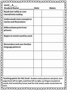 first grade wow guided reading guide With guided reading observation template