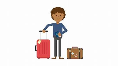Cartoon Traveling Svg Luggage Commons Trip Wikimedia