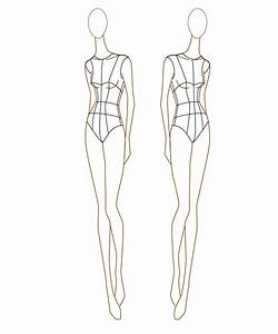 the gallery for gt fashion figure sketches templates With fashion designer drawing template