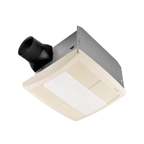 lowes broan bathroom fan shop broan 1 3 sone 110 cfm white bathroom fan with light
