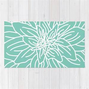 fleur abstraite vert menthe tapis vert turquoise et blanc With tapis vert menthe