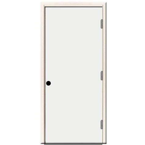 Outswing Interior Door by Steves Sons 36 In X 80 In Premium Flush Primed White