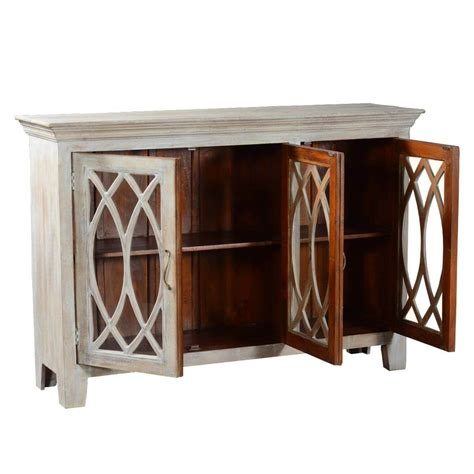 Sideboards With Glass Doors by 63 5 Quot Solid Wood Rustic Buffet Palisade Glass Door Sideboard