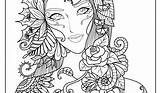 Complex Coloring Pages Adults sketch template