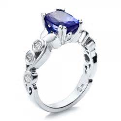 tanzanite engagement rings custom tanzanite and engagement ring 100112 bellevue seattle joseph jewelry