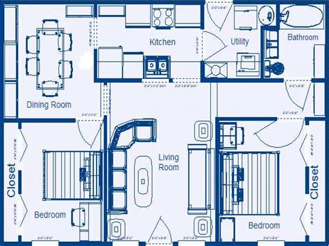 Bedroom House Floor Plans With Dimensions Bedroom