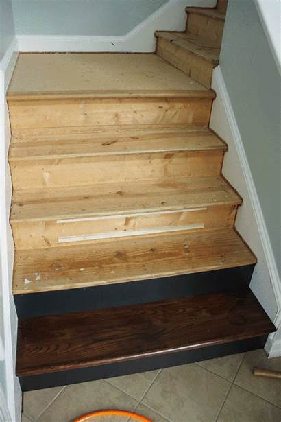 Staircase Stairs Wood Install Diy Makeover Carpet