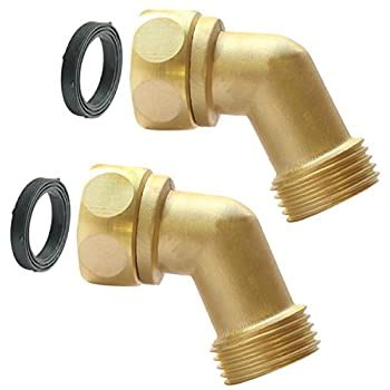 It's 29.5 in size and creates a convenient way to irrigate the grass and your plants. Amazon.com : PLG Garden Hose Elbow Connector, 45 Degree Hose Extender, Solid Brass Adapter ...