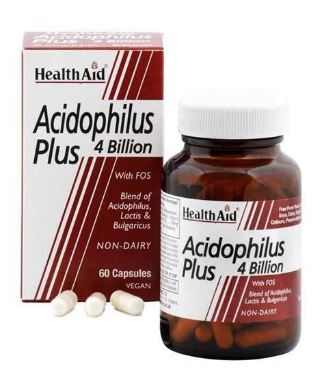 Health Aid Acidophilus PLUS 4 Billion. Probiotics , 60 Veg ...