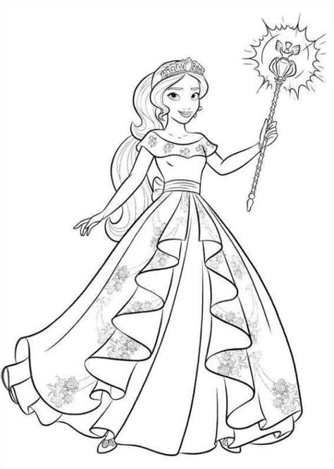 elena  avalor coloring pages getcoloringpagescom