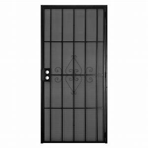 unique home designs 30 in x 80 in su casa black surface With unique home designs security doors