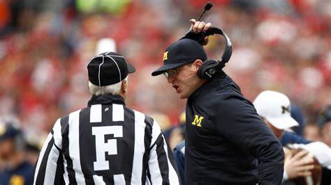 michigan wolverines coach jim harbaugh complaining