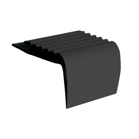 bullnose carpet stair treads home depot shop flexco 2 in x 144 in black dahlia vinyl stair nosing