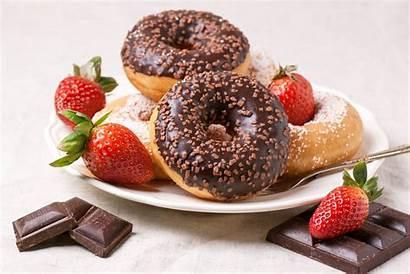 Donuts Chocolate Strawberries Doughnut Fresh Delices Bourbon