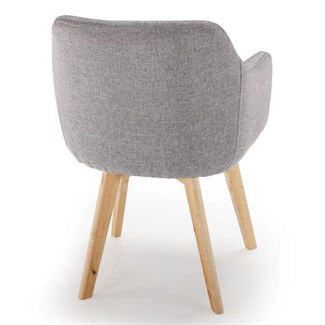 fauteuil scandinave en tissu quot sweet color quot 76cm gris