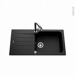 Evier Grand Bac Profond : evier bracciano granit noir 1 grand bac gouttoir ~ Premium-room.com Idées de Décoration