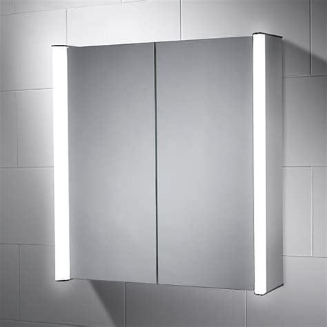 wickes oceana double led mirror cabinet  intergrated