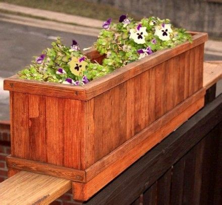 deck railing planters ideas  pinterest