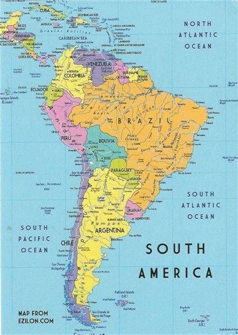 south america map ideas  pinterest latin
