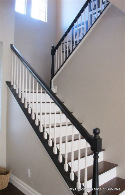 What Is A Banister On Stairs by Painted Stair Railings On Wood Stair Railings