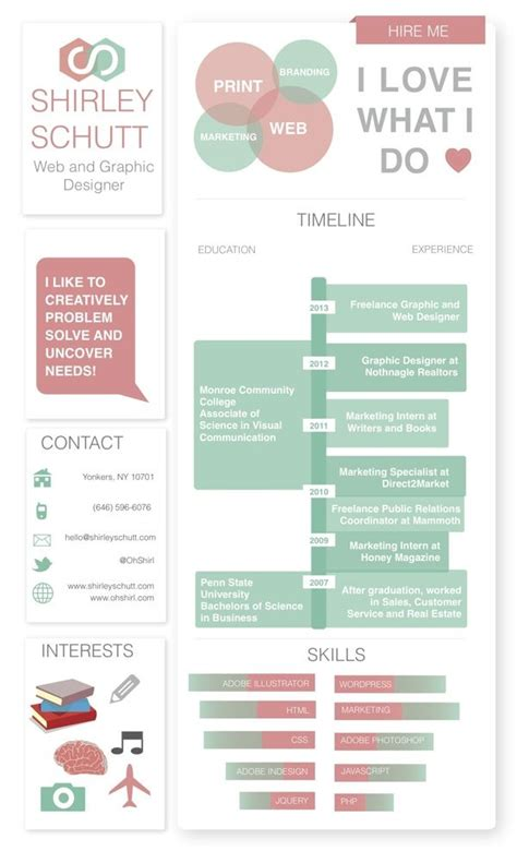 14824 simple creative resume resume self promotion by shirley schutt via behance