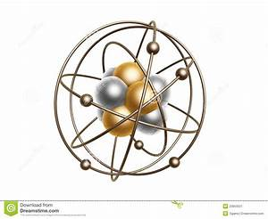 Golden Atom Structure Stock Illustration  Illustration Of Chemistry