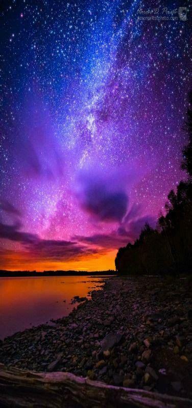 Milky Way Over Spencer Bay Moosehead Lake Maine Night